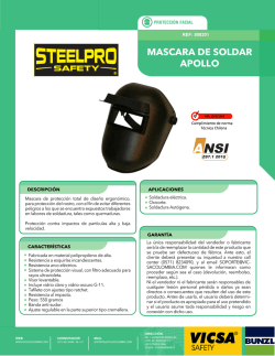 MASCARA SOLDAR apollo - vicsa steelpro colombia