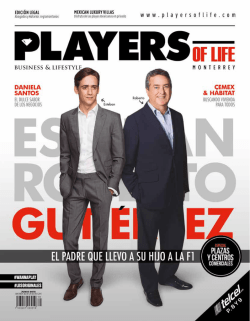 PLAYERS OF LIFE JUNIO 2015