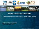 Infromación Agroecológica de Colombia -IGAC