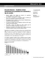 Encuesta Banxico – Analistas revisan fuertemente sus