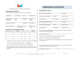 MET Application form-español - Metropolitan School of Panama