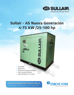 Sullair - AS Nueva Generación 4-75 KW /25-100 hp