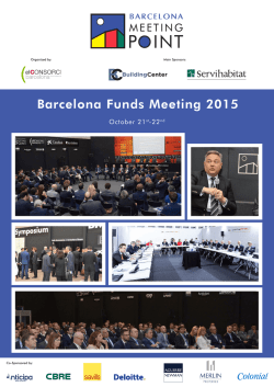 Barcelona Funds Meeting 2015