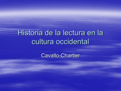Historia de la lectura en la cultura occidental