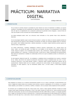 PRÁCTICUM: NARRATIVA DIGITAL