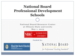 National Board Professional Development Schools
