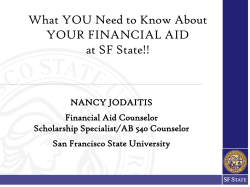 What you need to know about receiving Financial Aid At SF State