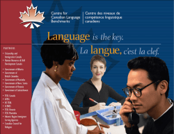 - Centre for Canadian Language Benchmark