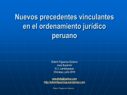 CONFERENCIAS Nuevos precedentes vinculantes 23jul2015