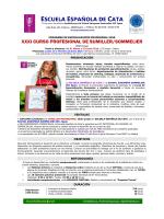 info XXXI Sumiller - Escuela española de cata