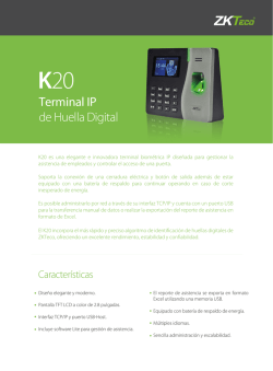 Terminal IP de Huella Digital