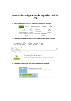 Manual de configuracion de seguridad outlook CCI.