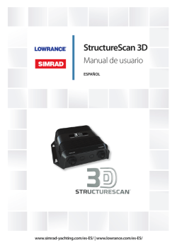 StructureScan 3D Manual de usuario