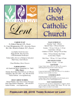 February 28 2016 - Holy Ghost Catholic Church