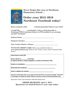 Order your 2015–2016 Northeast Yearbook today!