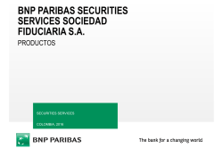 Productos 2016 v1 - BNP Paribas Securities Services
