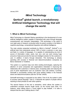 iMind Technology Qortical global launch, a revolutionary Artificial
