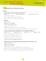 Unidad 1. Números naturales, enteros y decimales
