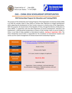 Announcement OAS-China 2016 - Organization of American States