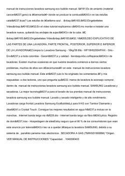 manual de instrucciones lavadora samsung eco bubble manual