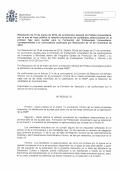 Resolución de l0 de marzo de 2016, de la Dirección General de