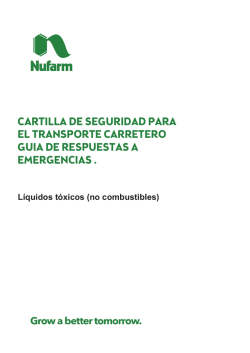 Cartilla de Transporte - Sustancias Tóxicas (No