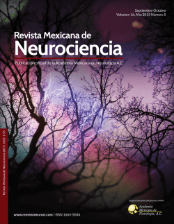 Descargar Número completo - Revista Mexicana de Neurociencia