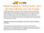 Shipping goods to foreign lands a few tips that will help save the trouble