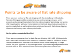 Points to be aware of flat rate shipping.