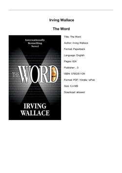 Irving Wallace The Word