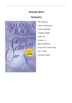 Amanda Quick Seduction