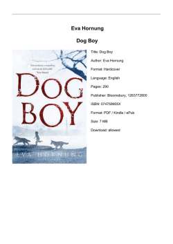 Eva Hornung Dog Boy