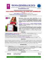 New! Info XXXI Sumiller - Escuela Española de Cata