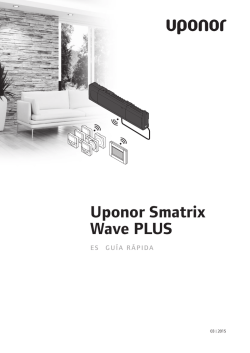 Componentes de Uponor Smatrix Wave PLUS