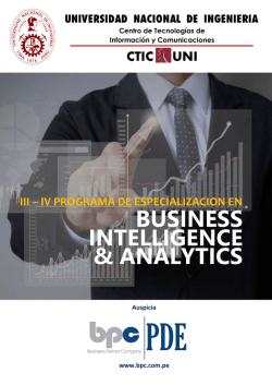 intelligence business & analytics - CTIC-UNI