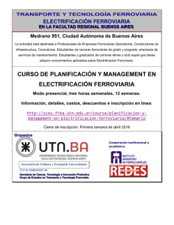 afiche curso electrificación 2016 - Red Universitaria de Transporte