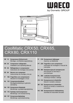 CoolMatic CRX50, CRX65, CRX80, CRX110
