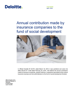 Annual contribution made by insurance companies to the