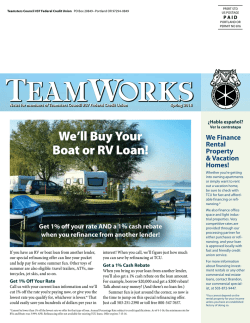 Current Newsletter  - Teamsters Council #37 Federal Credit
