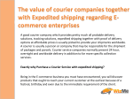 The value of courier companies together with Expedited shipping regarding E-commerce enterprises