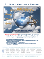 Sunday Bulletin - St. Mary Magdalen Catholic Church