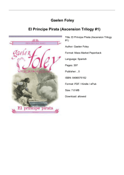 Gaelen Foley El Príncipe Pirata (Ascension Trilogy #1)