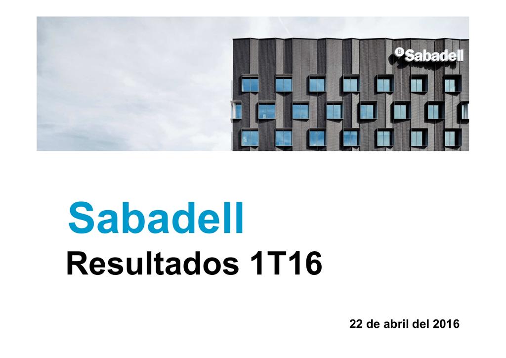 Banco Sabadell remite presentación sobre sus