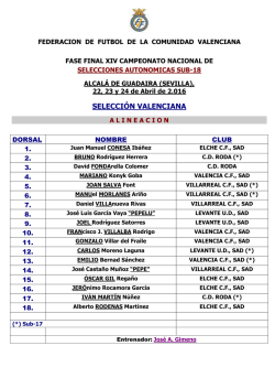 FASE FINAL Convocatoria Oficial Sub-18