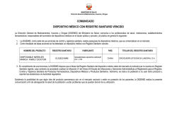 comunicado dispositivo médico con registro sanitario