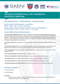 antiage advanced full day training in aesthetic medicine