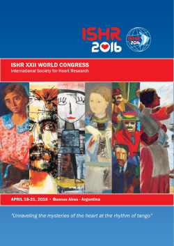 ishr program pdf - ISHR World Congress
