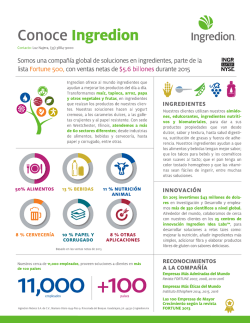 Brochure - Ingredion