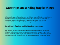 Great tips on sending fragile things