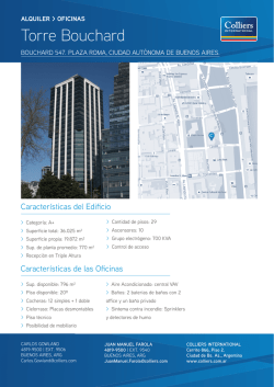 Torre Bouchard - Colliers International
